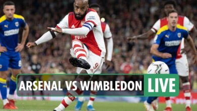 Photo of Arsenal vs AFC Wimbledon LIVE SCORE: Stream, TV channel, group information as Lacazette places Gunners forward – newest updates