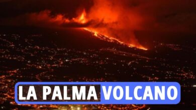 Photo of La Palma volcano – Canary Islands face poisonous fuel clouds as terrifying lava circulation heads in direction of sea amid 'fixed' quakes